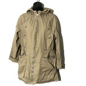 Sam Edelman tan Jacket with Hood and Zippers L